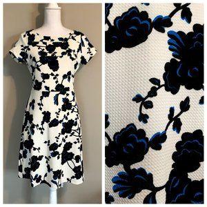Ivanka Trump Rose Floral Print Fit & Flare Dress